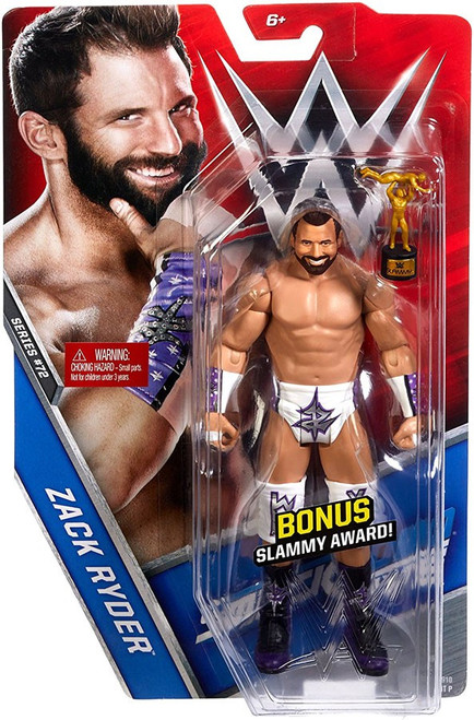 WWE Wrestling Series 72 Zack Ryder Action Figure [Bonus Slammy Award]