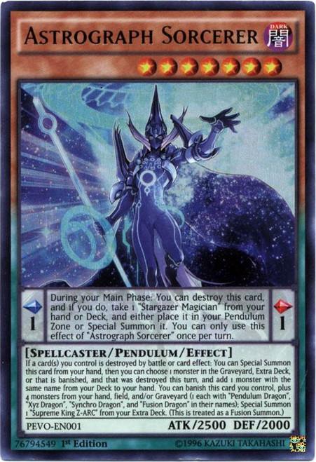 YuGiOh Pendulum Evolution Ultra Rare Astrograph Sorcerer PEVO-EN001