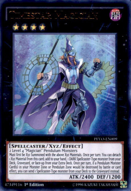 YuGiOh Pendulum Evolution Ultra Rare Timestar Magician PEVO-EN009