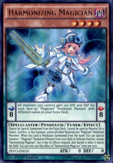 YuGiOh Pendulum Evolution Ultra Rare Harmonizing Magician PEVO-EN010