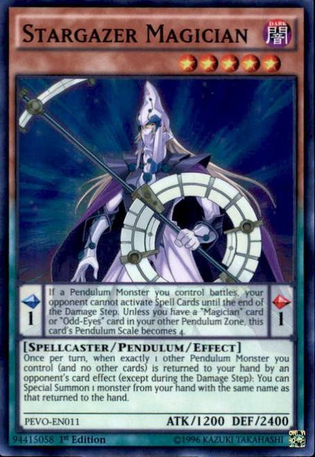 YuGiOh Pendulum Evolution Super Rare Stargazer Magician PEVO-EN011