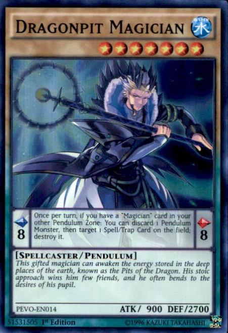 YuGiOh Pendulum Evolution Super Rare Dragonpit Magician PEVO-EN014