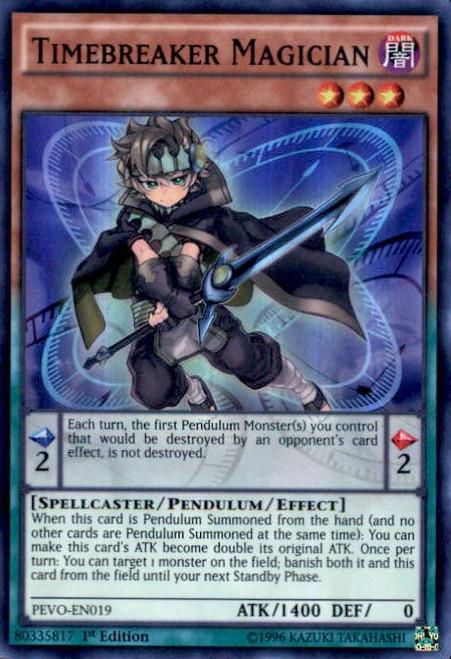 YuGiOh Pendulum Evolution Super Rare Timebreaker Magician PEVO-EN019