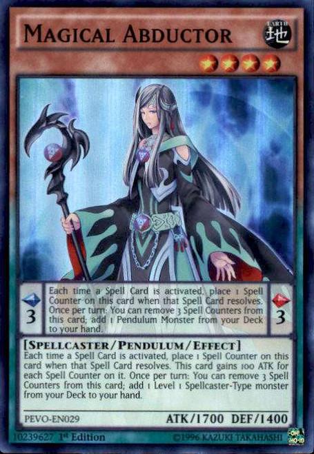 YuGiOh Pendulum Evolution Super Rare Magical Abductor PEVO-EN029