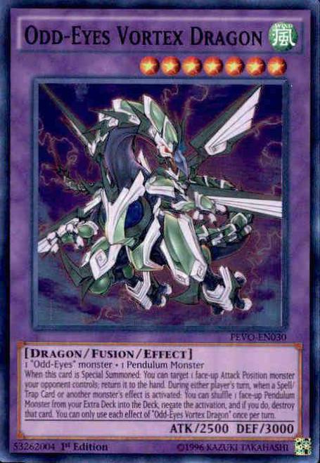 YuGiOh Pendulum Evolution Super Rare Odd-Eyes Vortex Dragon PEVO-EN030