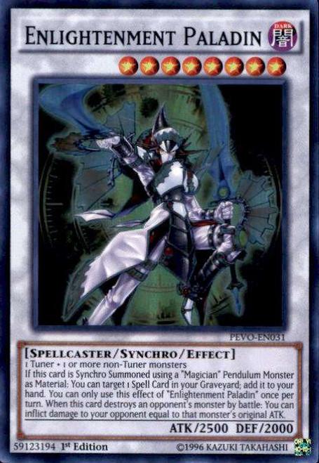 YuGiOh Pendulum Evolution Super Rare Enlightenment Paladin PEVO-EN031