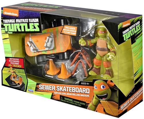 Teenage Mutant Ninja Turtles Nickelodeon Sewer Skateboard Action Figure Vehicle