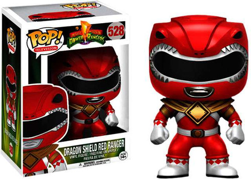 Funko Power Rangers POP! TV Dragon Shield Red Ranger Exclusive Vinyl Figure #528