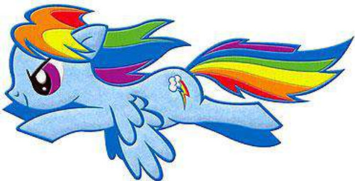 My Little Pony Rainbow Dash Patch [Flying]