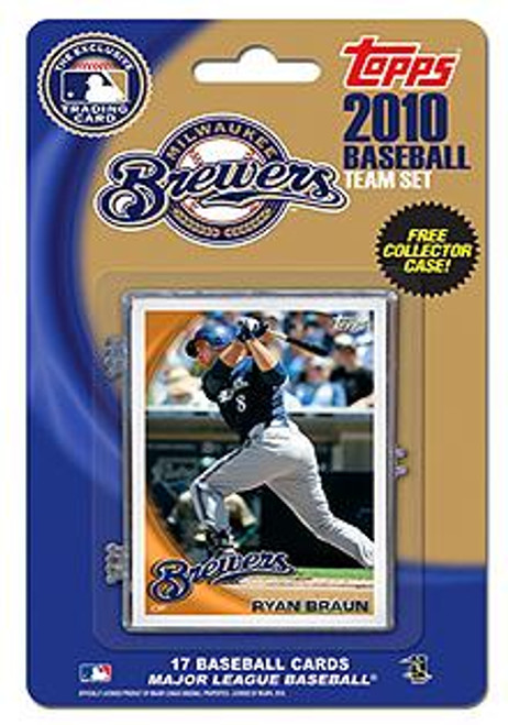MLB 2010 Topps Baseball Cards Milwaukee Brewers Exclusive Team Set