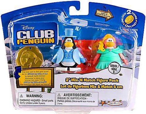 Club Penguin Mix 'N Match Series 8 Tuxedo Guy & Prom Girl Mini Figure Set [Damaged Package]