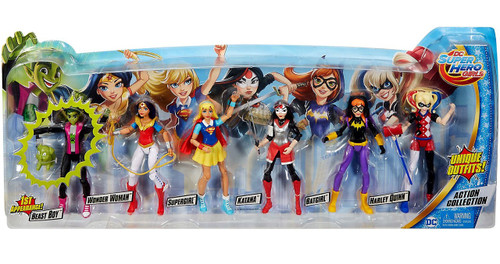 DC Super Hero Girls Action Collection Exclusive Action Figure 6-Pack [Includes Beast Boy!]