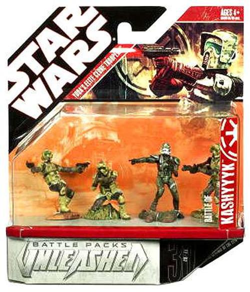 Star Wars Saga '08 Unleashed Yoda Elite Corp Figure 4-Pack [Damaged Package]