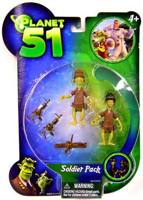 Planet 51 Soldier Pack A Mini Figure 2-Pack