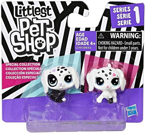 Littlest Pet Shop Black & White Series 1 Puppies Figure 2-Pack