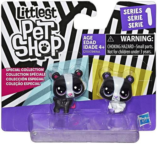 Littlest Pet Shop Black & White Series 1 Bears Figure 2-Pack