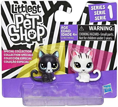 Littlest Pet Shop Black & White Series 1 Kitties Figure 2-Pack