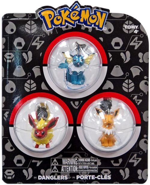 Pokemon Danglers Vaporeon, Flareon, & Jolteon 3-Inch Dangler 3-Pack