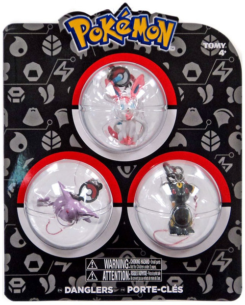 Pokemon Danglers Sylveon, Umbreon, & Espeon 3-Inch Dangler 3-Pack