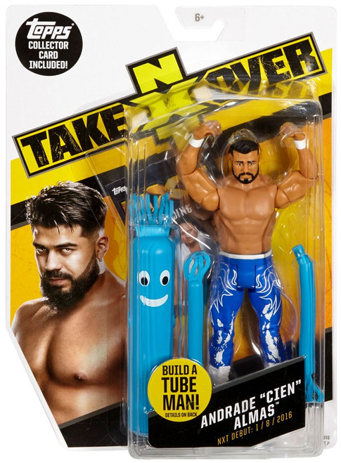 "WWE Wrestling NXT Takeover Andrade ""Cien"" Almas Exclusive Action Figure [Build A Tube Man!]"