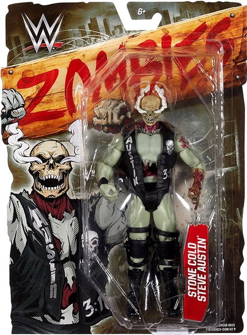 WWE Wrestling Zombies Stone Cold Steve Austin Action Figure