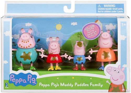 Peppa Pig's Muddy Puddles Family Figure 4-Pack