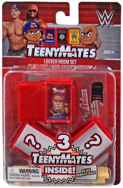 WWE Wrestling TeenyMates Locker Room Set Accessory Pack