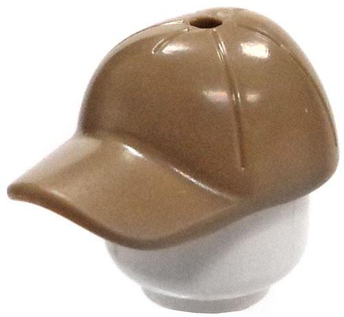 Dark Tan Baseball Cap / Hat with Hole in Top [Loose]