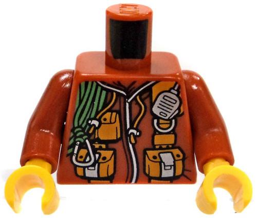 LEGO Dark Orange Male Adventure Gear Loose Torso [Loose]