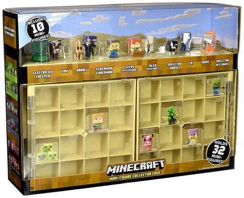 Minecraft Desert Biome Mini Figure Collector Case
