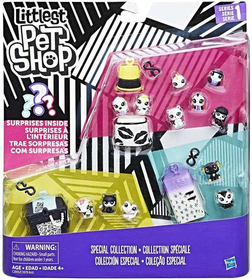 Littlest Pet Shop Black & White Series 1 Special Collection #2 Figure Set