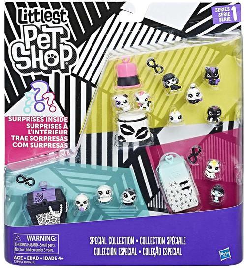 Littlest Pet Shop Black & White Series 1 Special Collection #3 Figure Set
