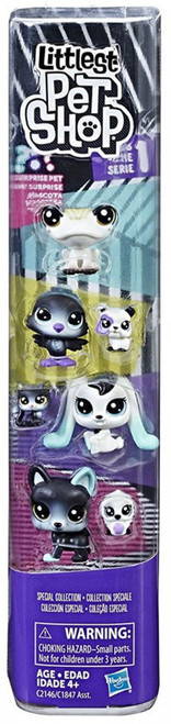 Littlest Pet Shop Black & White Series 1 Special Collection #1 Figure 8-Pack