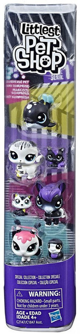 Littlest Pet Shop Black & White Series 1 Special Collection #2 Figure 8-Pack