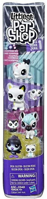 Littlest Pet Shop Black & White Series 1 Special Collection #3 Figure 8-Pack
