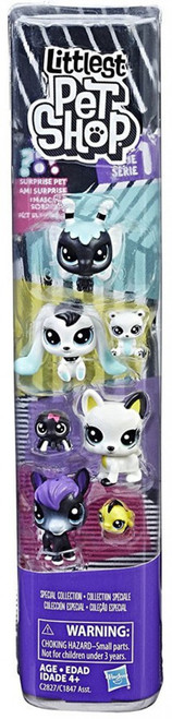 Littlest Pet Shop Black & White Series 1 Special Collection #4 Figure 8-Pack