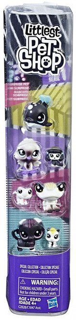 Littlest Pet Shop Black & White Series 1 Special Collection #5 Figure 8-Pack