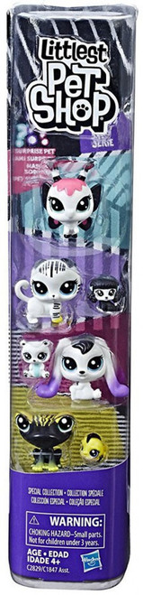 Littlest Pet Shop Black & White Series 1 Special Collection #6 Figure 8-Pack