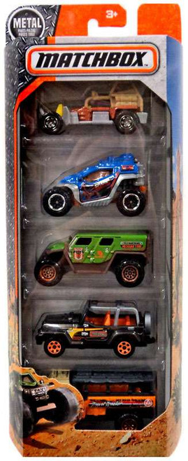 Matchbox Rugged Vehicles Diecast Vehicle 5-Pack [Desert]