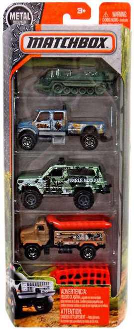 Matchbox Rugged Vehicles Diecast Vehicle 5-Pack [Jungle]