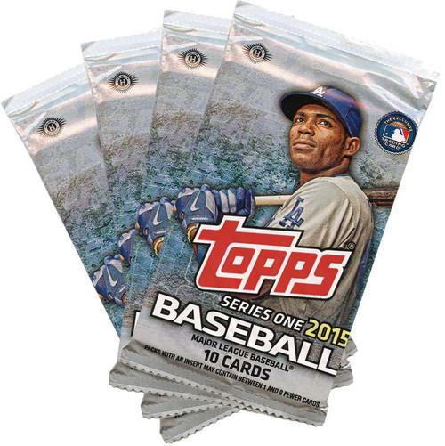 MLB Topps 2015 Baseball Series 1 LOT of 4 Packs