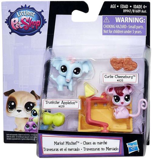Littlest Pet Shop Market Mischief Figure 2-Pack