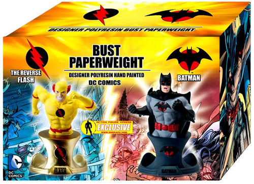 DC The Reverse Flash & Batman Bust Paperweight Set [Damaged Package]