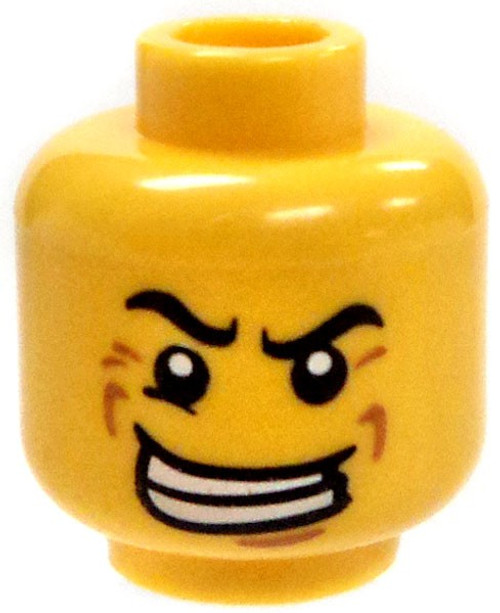 Crazed Look with Big Smile Minifigure Head [Loose]