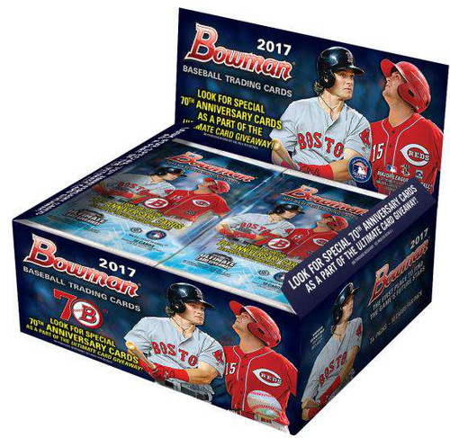MLB 2017 Bowman Baseball Cards Trading Card RETAIL Box [24 Packs]