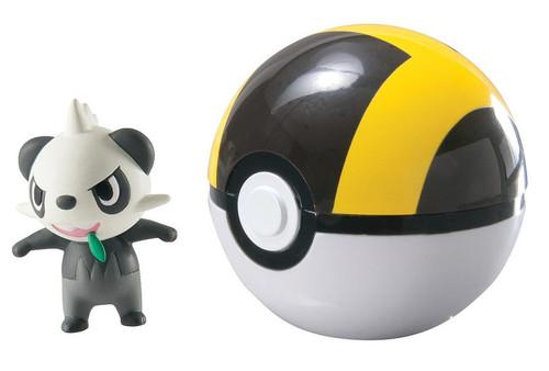 Pokemon Clip n Carry Pokeball Pancham & Ultra Ball Figure Set