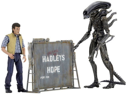 NECA Aliens Hadley's Hope Action Figure 2-Pack [Carter Burke & Concept Xenomorph]