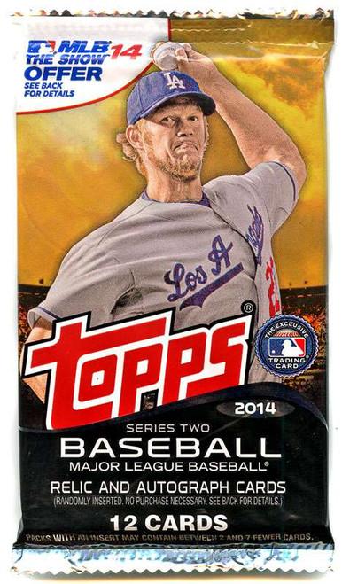 MLB Topps 2014 Series 2 Baseball Trading Card Pack [12 Cards]