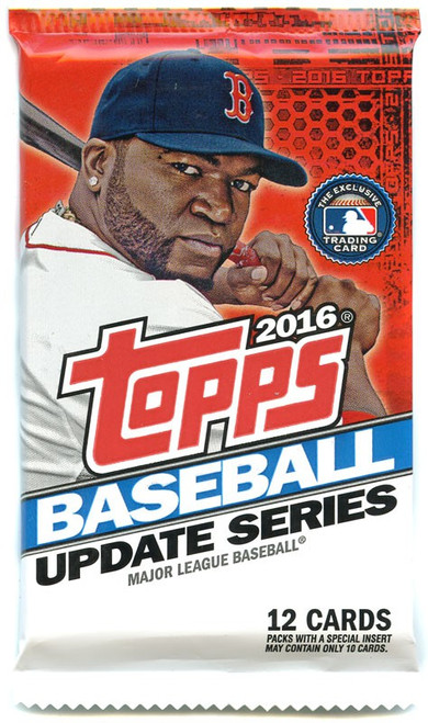 MLB Topps 2016 Update Baseball Trading Card Pack [12 Cards]