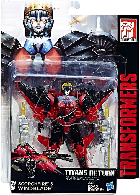 Transformers Generations Titans Return Windblade & Scorchfire Deluxe Action Figure